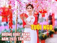 Hướng và giờ xuất hành tốt nhất cho người tuổi Ngọ dịp Tết Tân Sửu 2021