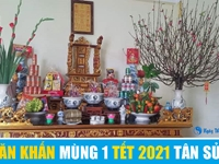 Văn khấn mùng 1 Tết Nguyên Đán 2021 Tân Sửu