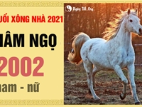 Xem tuổi xông nhà 2021 tốt cho Nhâm Ngọ 2002
